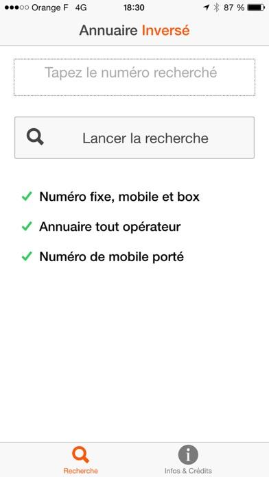 Screenshot #1 pour Annuaire Inversé Gratuit Portable, Mobile, Fixe et Box