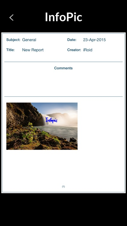 InfoPic - Generate and email PDF documents of photos with comments. screenshot-4