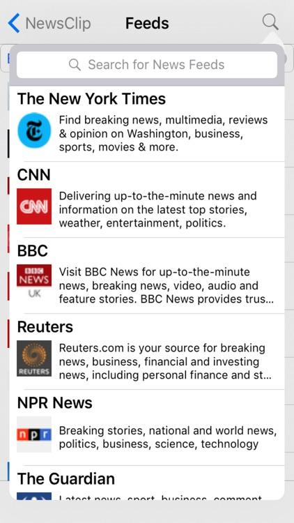 NewsClip - Personal News Reader screenshot-3