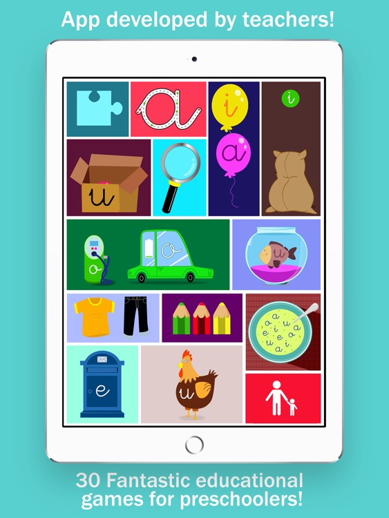 Learn to read and write the vowels - Preschool 2+ screenshot-0