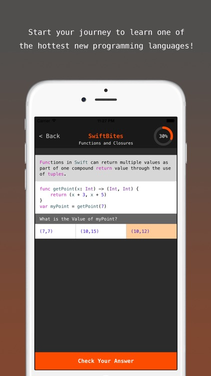 SwiftBites - Learn How to Code in Swift with Interactive Mini Lessons