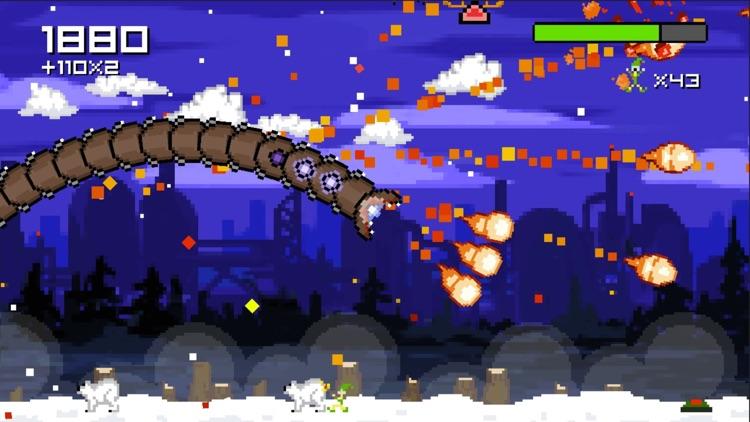 Super Mega Worm Vs Santa Saga screenshot-3