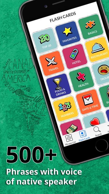 Spanish Phrasi - Free Offline Phrasebook with Flashcards, Street Art and Voice of Native Speaker