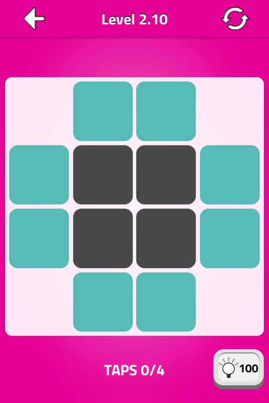 Dark Squares - free lights out logic puzzle - Online Game