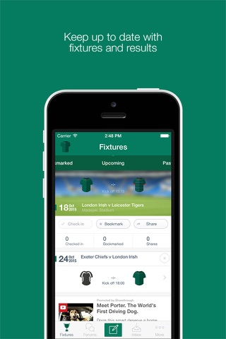 Fan App for London Irish - náhled