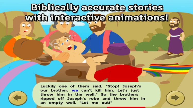 Bible Heroes: Joseph and his Multicolor Coat - Bible Story, Coloring, Singing, and Puzzles for Children screenshot-1