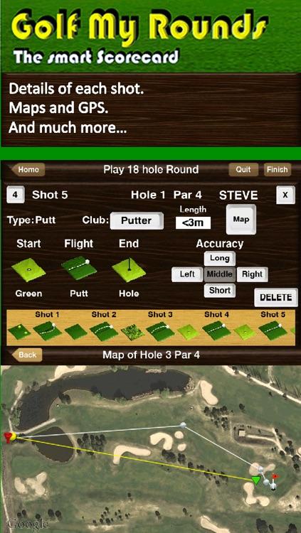 Golf My Rounds LITE screenshot-4
