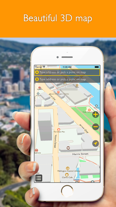 Wellington offline map with public transport route planner for my journey screenshot three