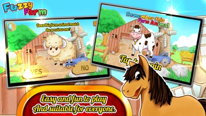 Fuzzy Farm : Animal Matching Game, A Free Games for Kids screenshot two