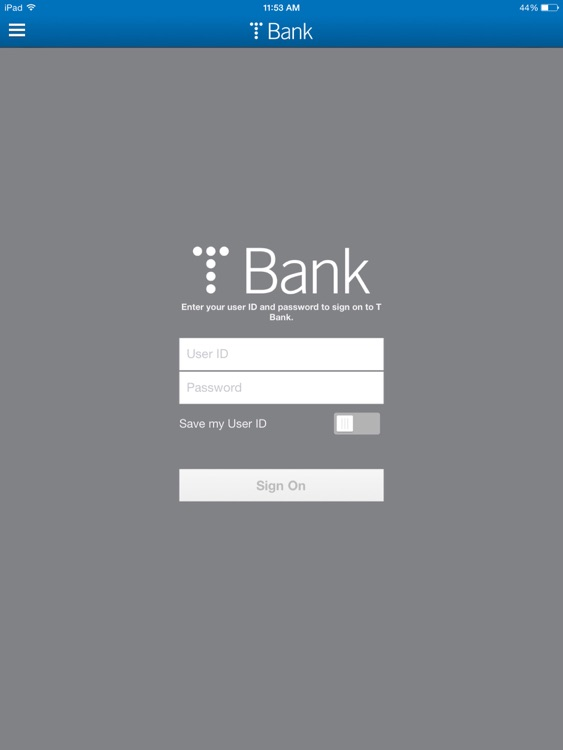 T Bank for iPad