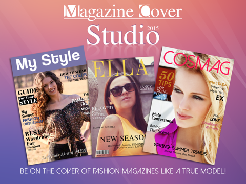 Magazine Cover Studio - Put your Pics in Frames with Text on