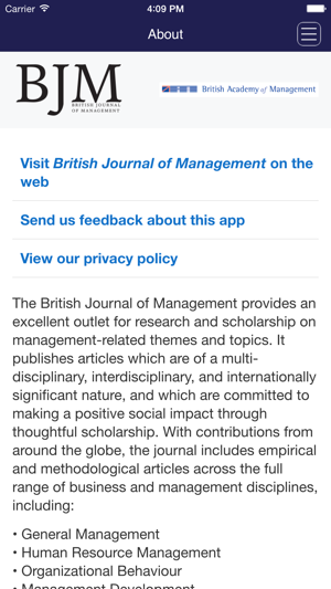 British Journal of Management on the App Store