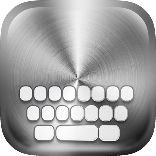KeyCCM –  Stainless Steel : Custom Color & Wallpapers Keyboard Metallic Themes For Design Iron Style