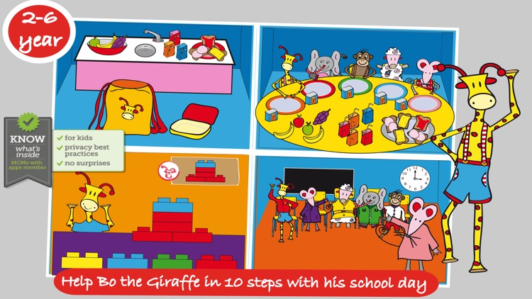 Bo's School Day - FREE Bo the Giraffe App for Toddlers and Preschoolers!