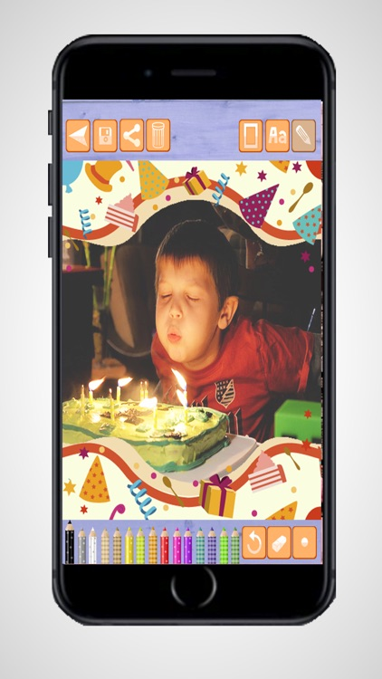 Create birthday cards and design birthday postcards to wish a happy birthday