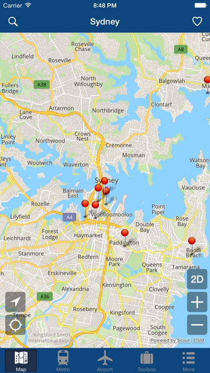 Sydney Offline Map - City Metro Airport