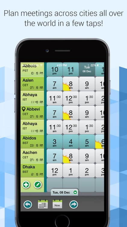 Easy time zones meeting planner - TimePal FREE