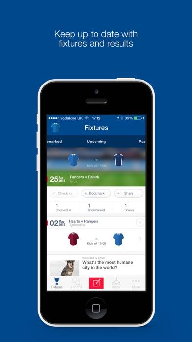 Fan App for Rangers FC screenshot one