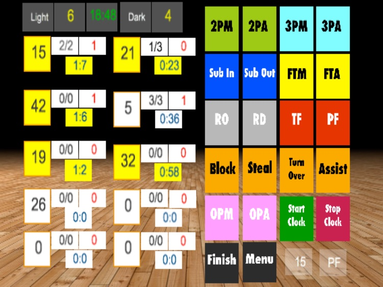 ScoreKeeper Basketball Pro HD screenshot-1