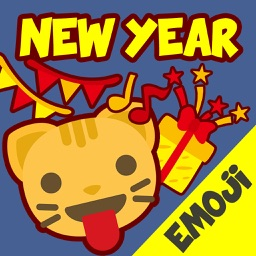 New Year Emoji - Holiday Emoticon Stickers & Emojis Icons for Message Greeting
