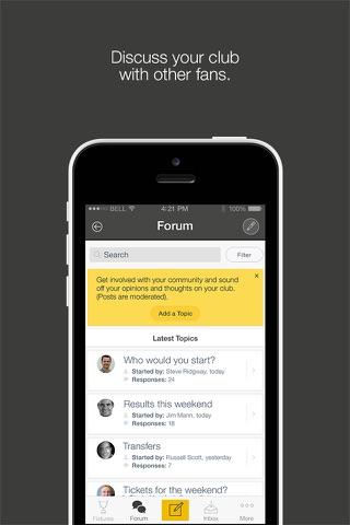 Fan App for Wasps RFC - náhled