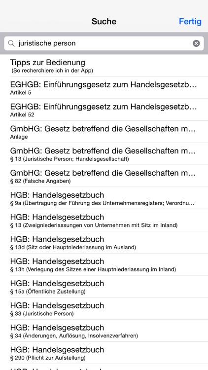 Handelsgesetzbuch, GmbH-Gesetz screenshot-3