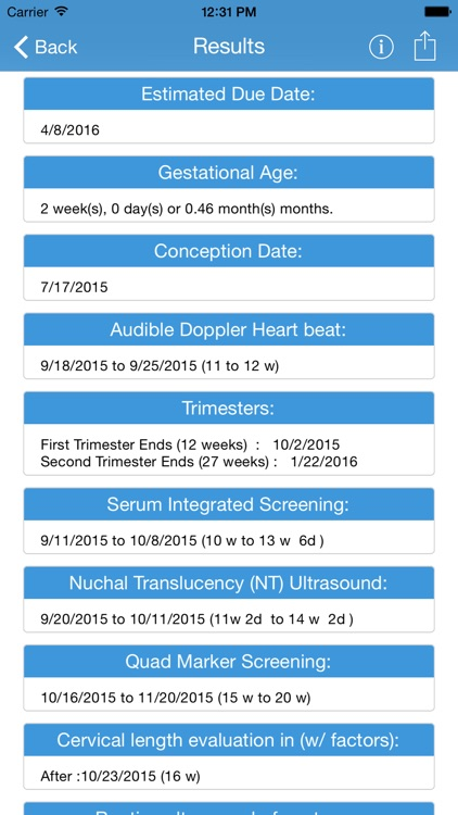 Baby Due Date - OB Wheel and Pregnancy Calculator