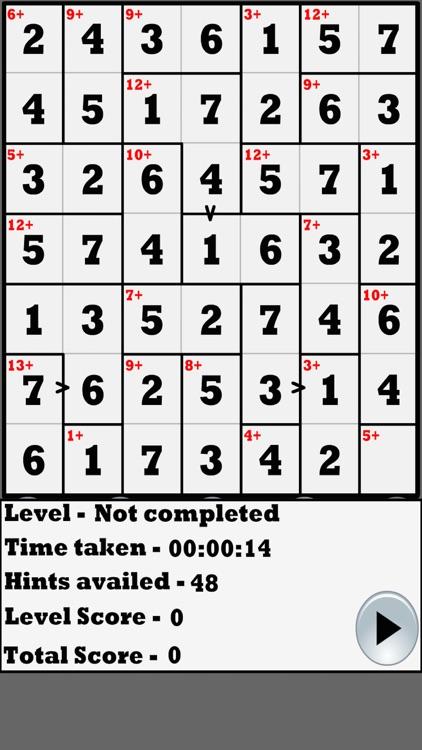 Greater than Killer-Sudoku by Mayuri Gujrathi