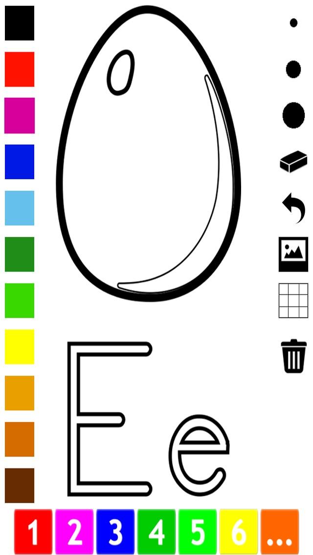 Abecedario - Libro para colorear para los más pequeños: Aprender a ...