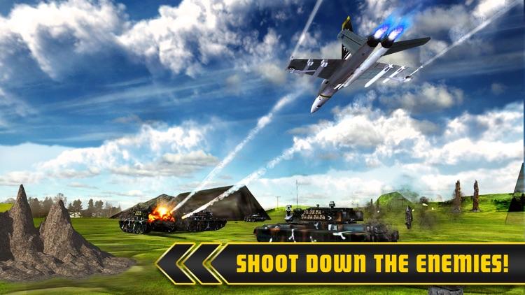 Fighter Jets Tank Attack War 3D screenshot-4