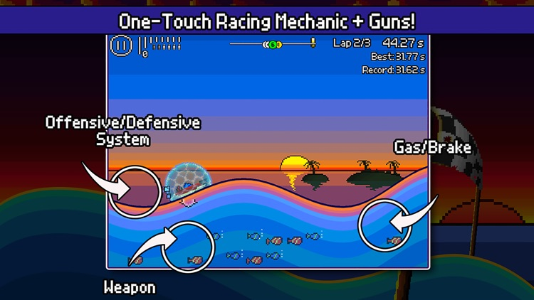 Pixel Boat Rush screenshot-4
