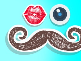 Moustaches & Kisses stickers!  love your pictures
