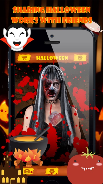 Halloween Emoji Stickers - Face Photo Makeup Games screenshot-0
