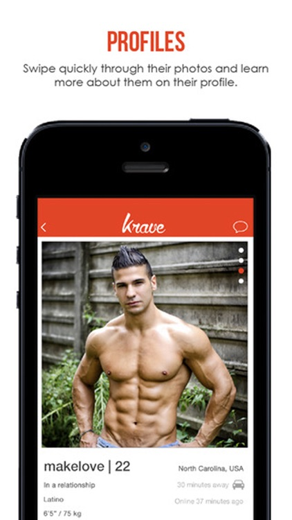 Krave- Gay Chat, Gay Dating, Gay Social Networking screenshot-3