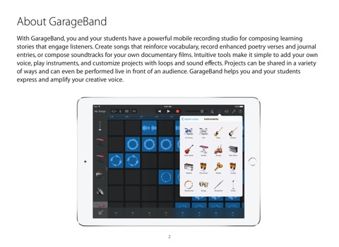 garageband for ipad starter guide ios 9 by apple education on ibooks rh itunes apple com GarageBand iPad Tutorial GarageBand iPad Trap Door