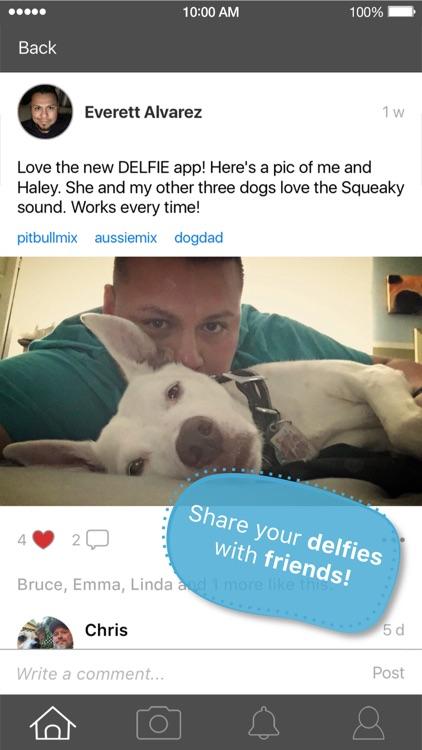 DELFIE Dog Selfie Photo Sounds Get Dogs Attention!