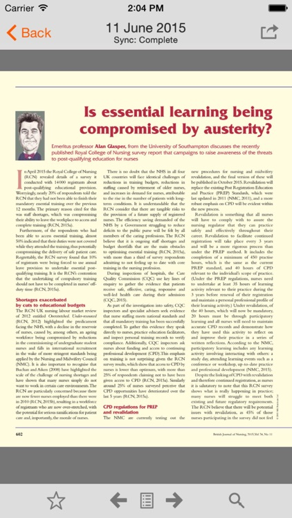 British Journal of Nursing screenshot-3