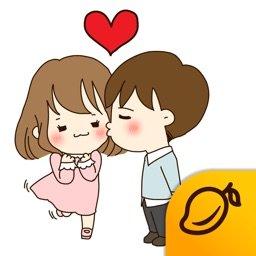 The Love story of Cute Couple - Mango Sticker