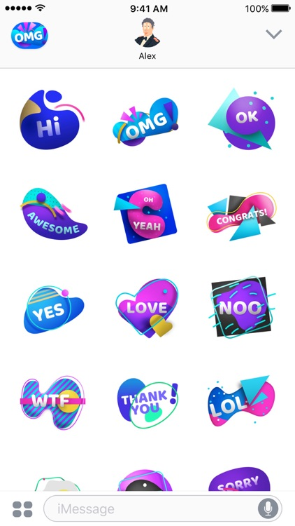 OMG Animated Stickers