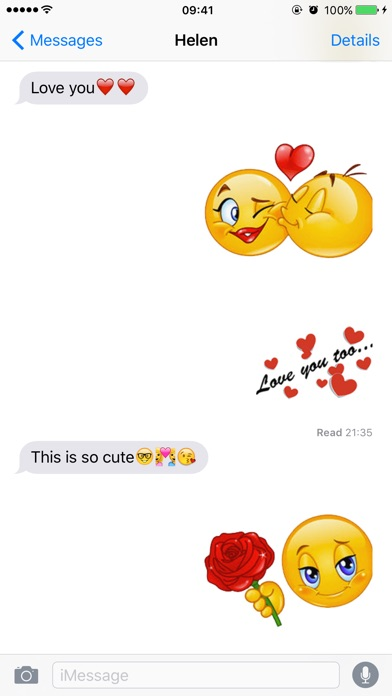 Screenshot for Flirty Emoji Pro with Stickers Pack for Texting in United States App Store