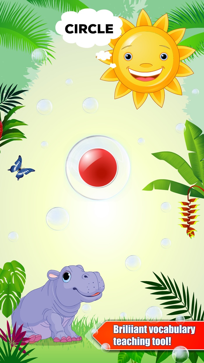Shapes & colors bubble games for toddler kids Free Screenshot