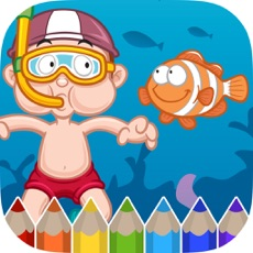 Activities of Sea Animals Coloring Book - Painting Game for Kids