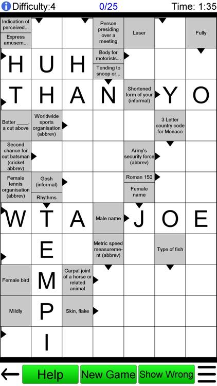 Arrow Crossword