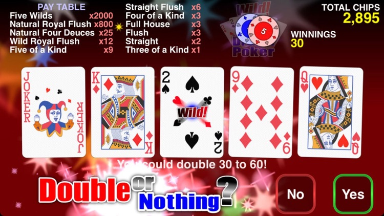Wild Dream Poker - Deuces Wild Video Poker screenshot-3