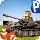 militar tanque parking tank icon