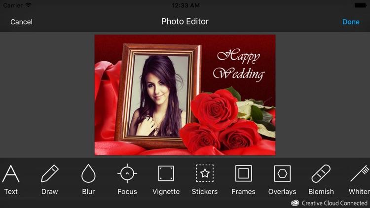 Wedding Photo Frames & Photo Editor screenshot-4