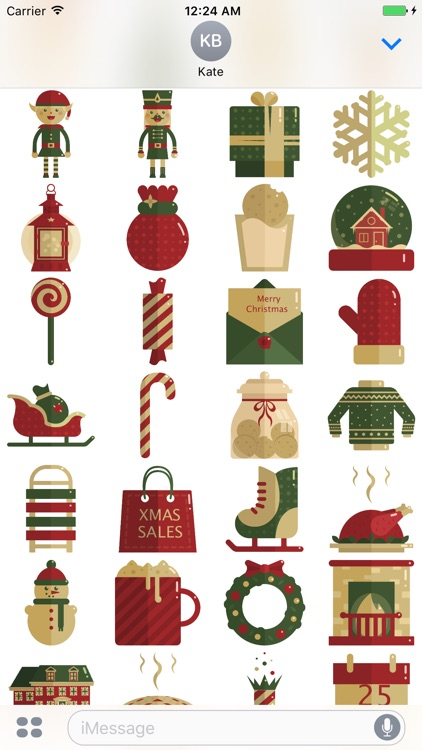 Merry Christmas Stickers Pack for iMessage