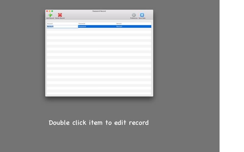 Password Record скриншот программы 4