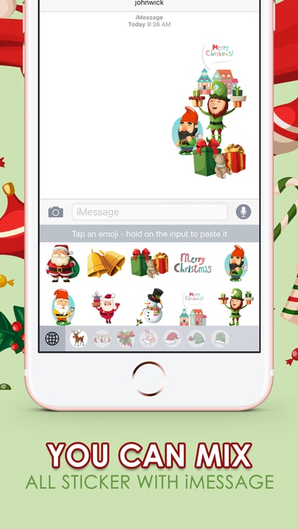 Merry Christmas Stickers Keyboard Themes ChatStick
