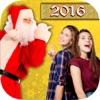 圣诞照片贴纸与圣诞老人